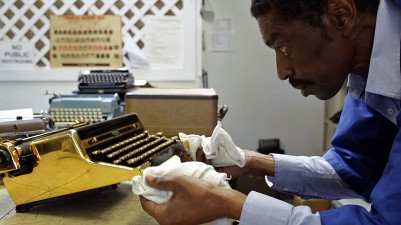 Ken Alexander, repairman, in scene from documentary film 'California Typewriter'