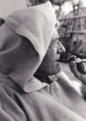 Paul Bowles in Tangier Morocco, photo courtesy of Black Sparrow Press