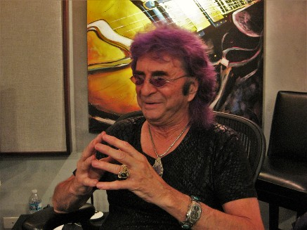 Jim Peterik in his recording studio, Aug 15 2019, Moresby Press Photo