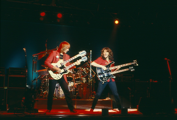Rush performs live in 1981. Photo by James Borneman