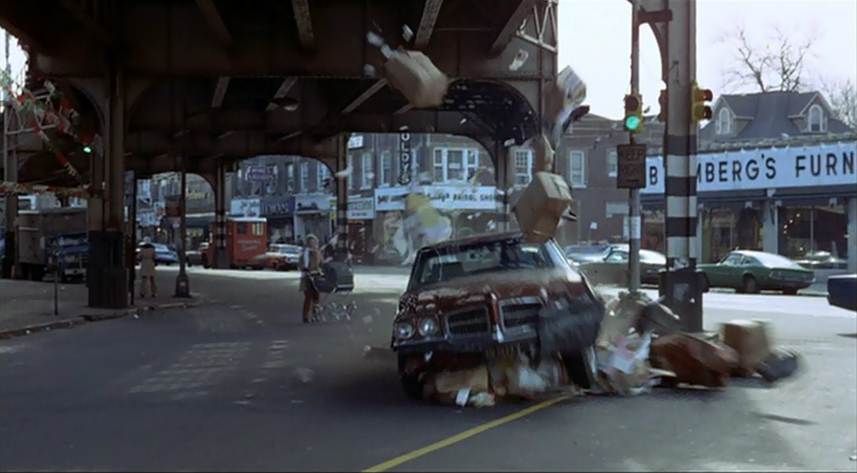 Chase scene from director William Friedkin's 1971 crime drama 'The French Connection'